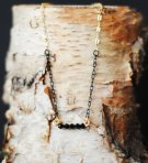 Ombre Black and Gold Swarovski Crystal Necklace   $30
